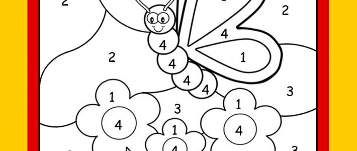 HIDDEN PICTURES | Numéros à colorier 3 ans et +